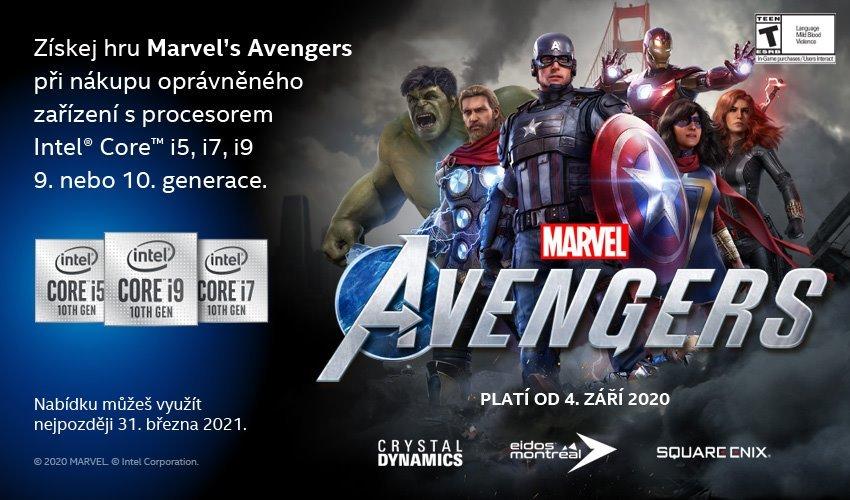 Intel kupón na hru Marvel's Avengers