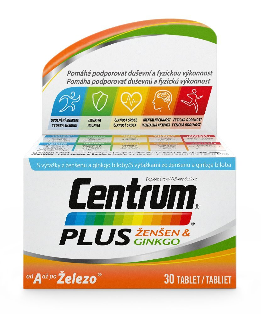 Multivitamín Centrum Plus ženšen&ginkgo