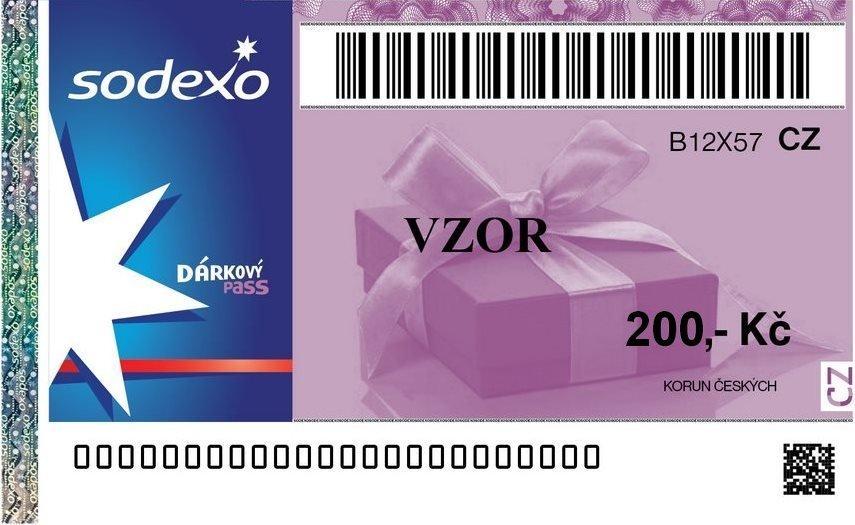 Poukázka Sodexo v hodnotě 200 Kč