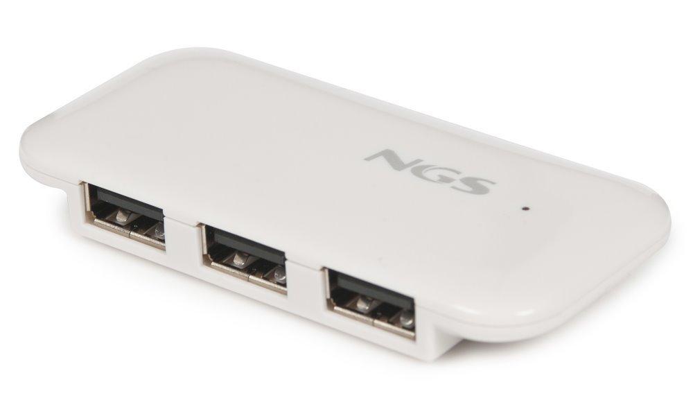 USB hub NGS IHUB4 bílý