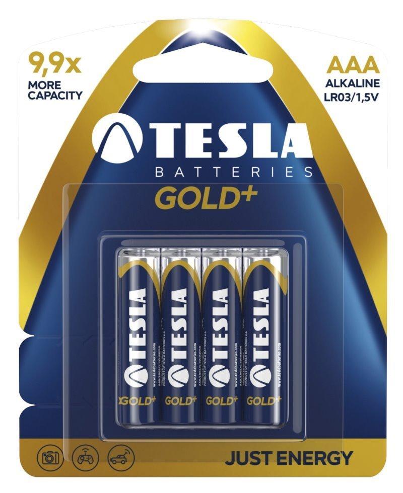 Baterie TESLA GOLD+ AAA (LR03) 4ks