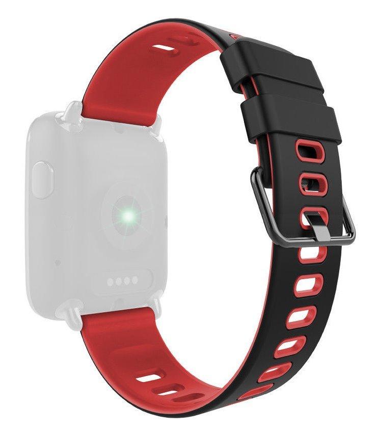 Řemínek IMMAX pro chytré hodinky SW9 černo-červený 05029  8384ed13832