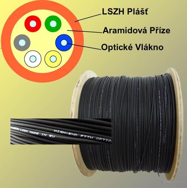 Kabel Wavecon DROP 12 vláken 9/125 LSOH
