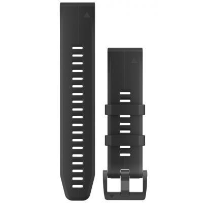 GARMIN řemínek pro fenix5 Plus - QuickFit 22, černý, černá přezka