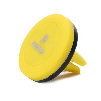 REMAX držák telefonu do auta / RM-C10 / magnetický / do ventilační mřížky / černo-žlutý