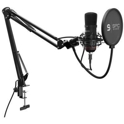 SPC Gear mikrofon SM900 Streaming microphone / USB / polohovatelné rameno / pop filtr / držák proti otřesům