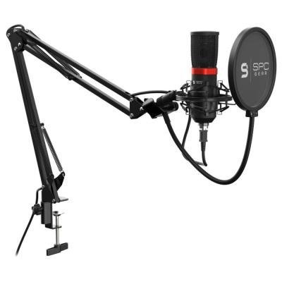 SPC Gear mikrofon SM950 Streaming microphone / USB / polohovatelné rameno / mute tlačítko / pop filtr