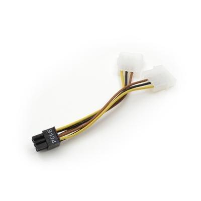 Kabel Akasa 10cm 2x Molex na 1x PCI express
