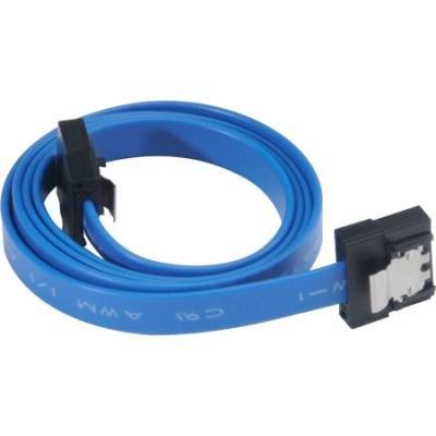 Kabel Akasa SATA 3.0 Proslim 15cm modrý