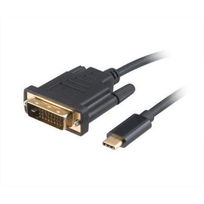 Kabel Akasa USB typ C na DVI-D 1,8m černý