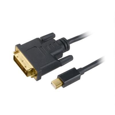 Kabel Akasa mini DisplayPort na DVI-D 1,8m černý