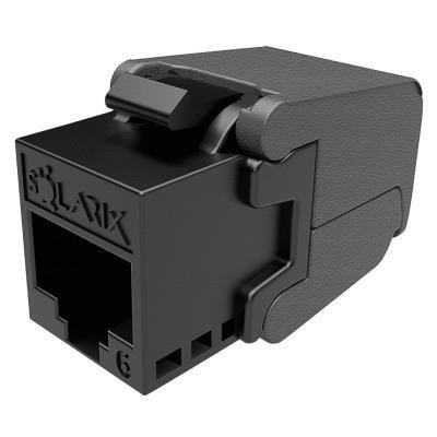 Solarix keystone c6 UTP RJ45 černý samořezný  SXKJ-6-UTP-BK-SA
