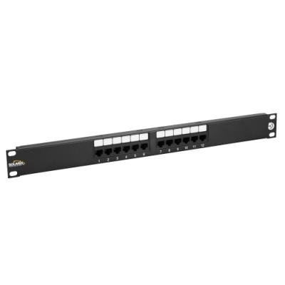 Patch panel Solarix SX12-5E-UTP-BK
