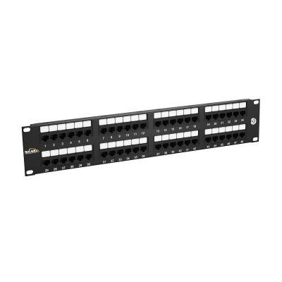 Patch panel Solarix SX48-5E-UTP-BK