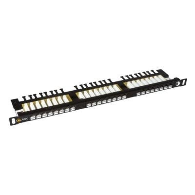 Patch panel Solarix SX24HD-6-UTP-BK