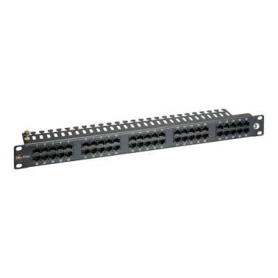 Patch panel Solarix SX50-ISDN-BK