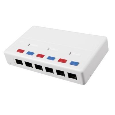 Datová zásuvka Solarix SX6-5E-UTP-WH