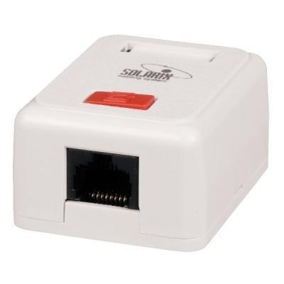 Datová zásuvka Solarix SX108-5E-STP-WH