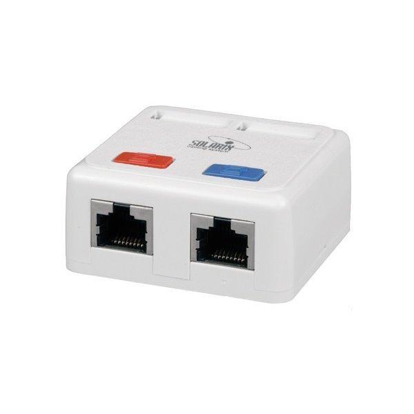 Datová zásuvka Solarix SX288-5E-UTP-WH