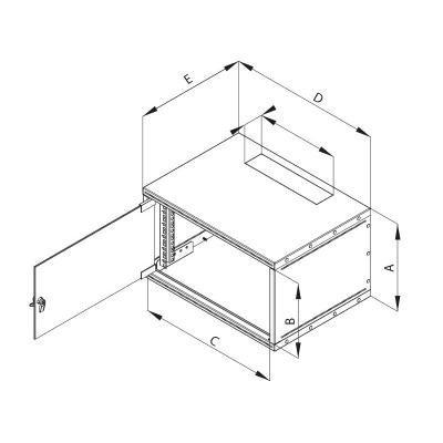 """Rozvaděč Triton RXA 19"""" 6U jednodílný 400 mm"""
