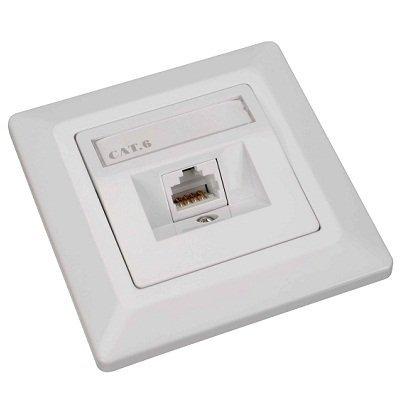 Datová zásuvka Solarix SX9-1-6-UTP-WH
