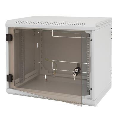 Triton 19' rozvaděč jednodílný 9U/500mm vylamovací otvor pro ventilátor RAL7035