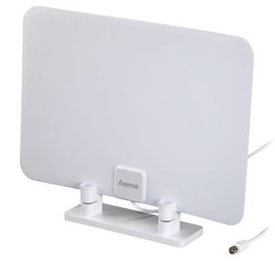 HAMA pasivní DVB-T/T2 pokojová anténa/ 15 dB/ VHF/UHF/FM/ DAB/DAB+/ ultra plochá/ 470-862 MHz/ bílá