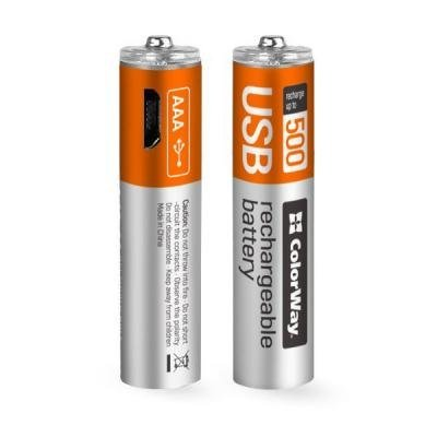 Nabíjecí baterie ColorWay AAA 400mAh 2ks