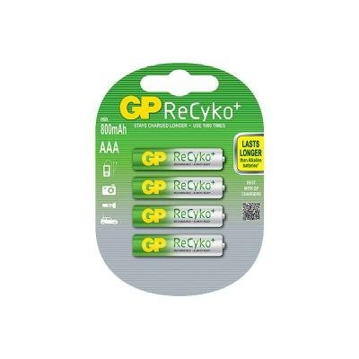 Nabíjecí baterie GP AAA NiMH 800mAh ReCyko+ 4ks