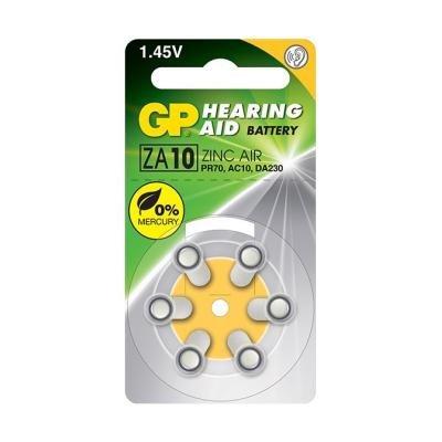 GP baterie do naslouchadel ZA10 6ks blistr