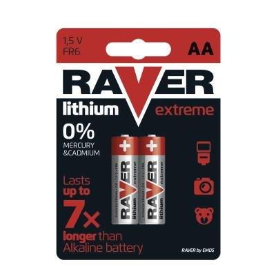 Baterie GP 1,5V RAVER AA Extreme 2ks