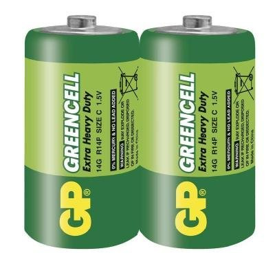 Baterie GP Greencell 1,5V C 2ks