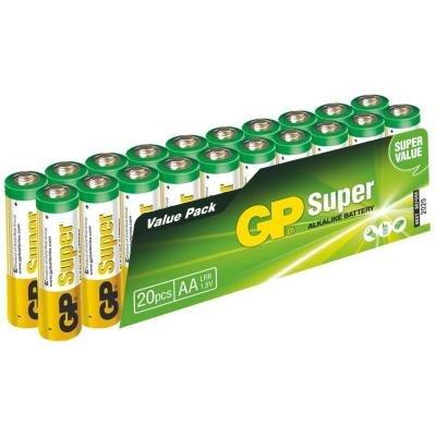Baterie GP alkalická AA Super 20 ks