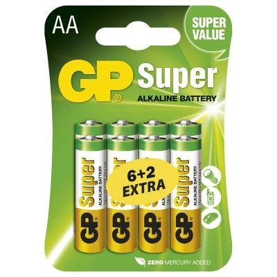 Baterie GP Super 1,5 V AA (LR6) 8 ks