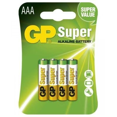 Baterie GP Super 1,5 V AAA (LR03) 4 ks