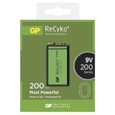 Nabíjecí baterie GP ReCyko+ 9V (GF22) Ni-MH 200mAh