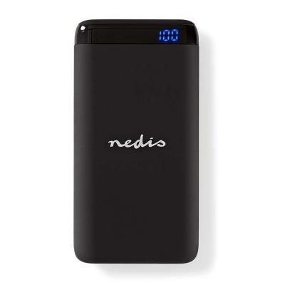 NEDIS PowerBank UPBK10011BK/ 10 000 mAh/ USB-A / C výstup 3.0 A/ Micro USB / USB-C vstup/ Quick charge/ černá