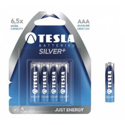 Baterie TESLA SILVER+ AAA (LR03) 4ks