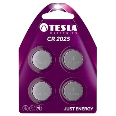 Baterie TESLA CR2025 3V 4ks
