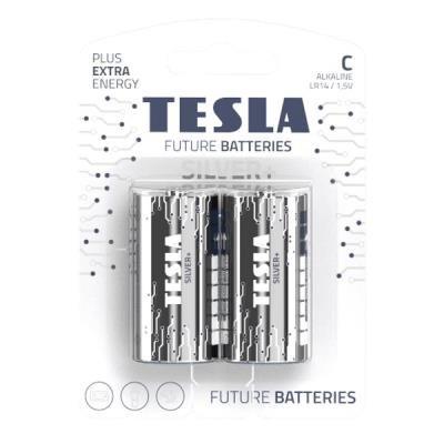 TESLA SILVER+ alkalická baterie C (LR14, malý monočlánek, blister) 2 ks