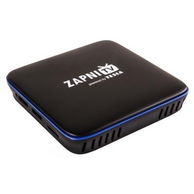 TESLA MediaBox ZAPNI TV/ 4K Ultra HD a HDR10/HLG/VP9/ H.265/HEVC/ KODI/ HDMI/ 2x USB/ LAN/ Wi-Fi/ Android 7.1.2/ černý