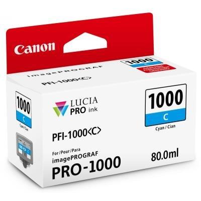Inkoustová náplň Canon PFI-1000 azurová