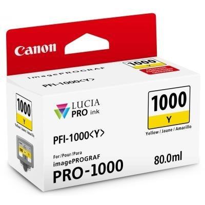 Inkoustová náplň Canon PFI-1000 žlutá
