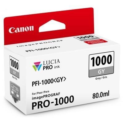 Inkoustová náplň Canon PFI-1000 šedá