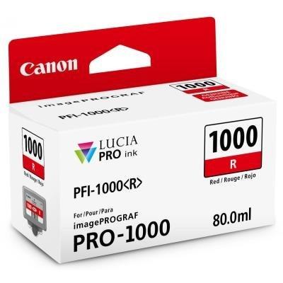 Inkoustová náplň Canon PFI-1000 červená