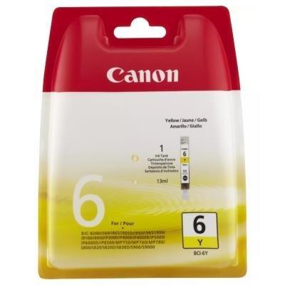Inkoustová náplň Canon BCI-6Y žlutá