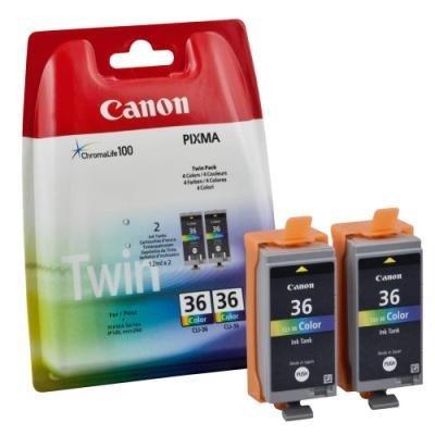 Inkoustová náplň Canon CLI-36 2ks CMY