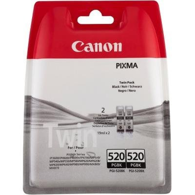Inkoustová náplň Canon PGI-520Bk 2ks černá