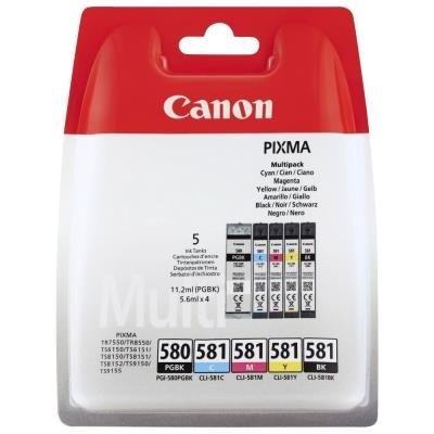 Inkoustová náplň Canon PGI-580 a CLI-581 multipack