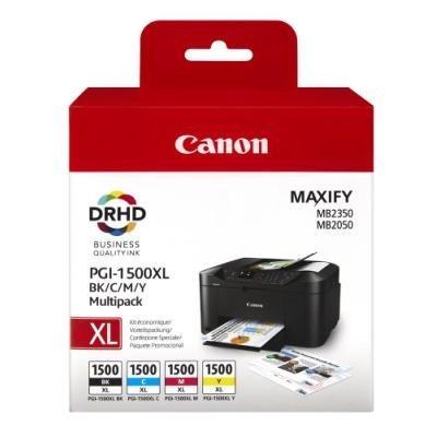 Canon multipack inkoustových náplní PGI-1500XL  C+M+Y+BK